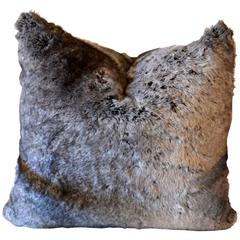 Faux Chinchilla Fur Pillow