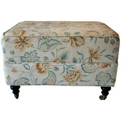 Floral Waverly Ottoman