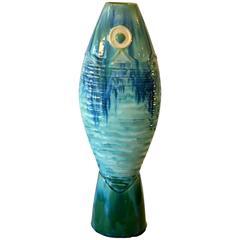 Vibrant Blue Fish