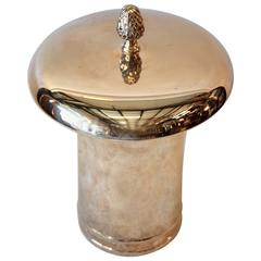 English Silver Covered Pot