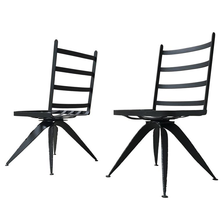 Torch Cut Brutal Swivel Chairs For Sale