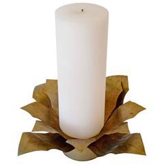Gilt Metal Candleholder