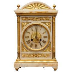 Antique French Empire Onyx Ormolu Carriage Clock Time