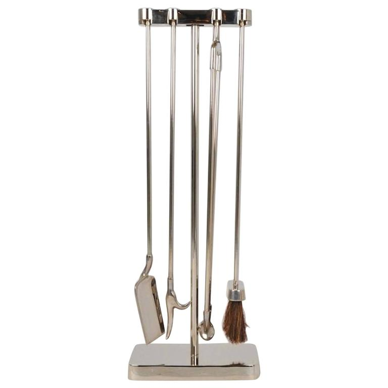Virginia Metalcrafters Polished Steel Fireplace Tools 1