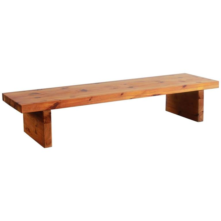 Long Low Coffee Table: Low And Long Pine Table At 1stdibs