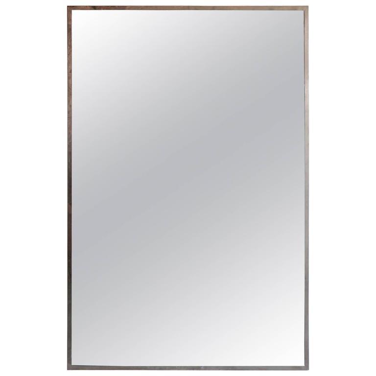 Large Chrome Framed Mirror For