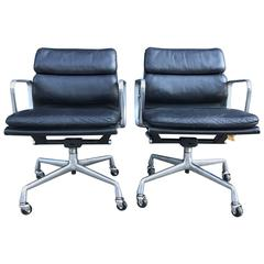 Eames for Herman Miller Mid-Century Soft Pad Chairs