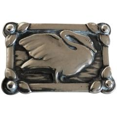 Georg Jensen Silver Brooch #213 with Swan