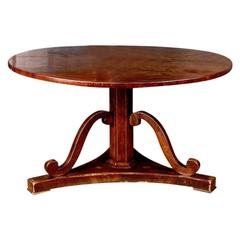 19th Century Biedermeier Style Mahogany Table