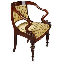 19th Century Biedermeier Style Dolphin Chair