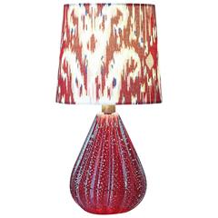 Vintage Murano Bullicante Glass Table Lamp