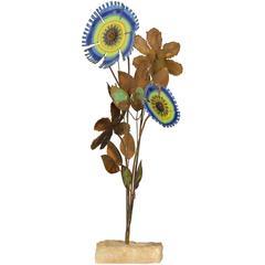 Curtis Jere Vintage Floral Sculpture