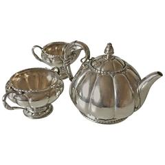 Georg Jensen Tea Set #26 in Silver with Early Marks from 1904-1908