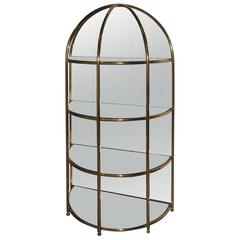 Particular Bar Cabinet Cage Mirror Design Very Chic Brass, 1970s
