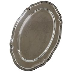 Oval Silver Tray in 835 S