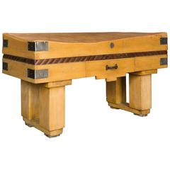 1930s French Butcher's Block