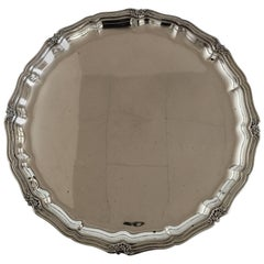 C.C. Herman Round Silver Tray