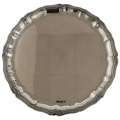 C.C. Herman Round Silver Tray