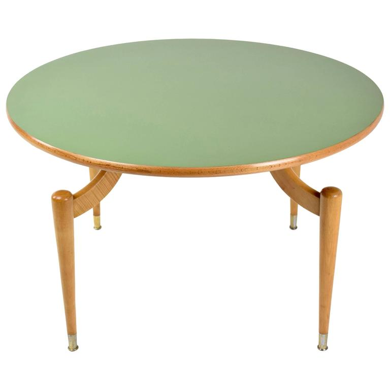 Italian Mid-Century Formica Table In the Manner of Ico Parisi