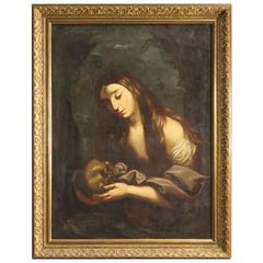 """18th Century Religious Painting """"Mary Magdalene"""""""