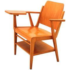 Midcentury Modern  Brown Vintage Beechwood Chair by Franz Schuster, 1959