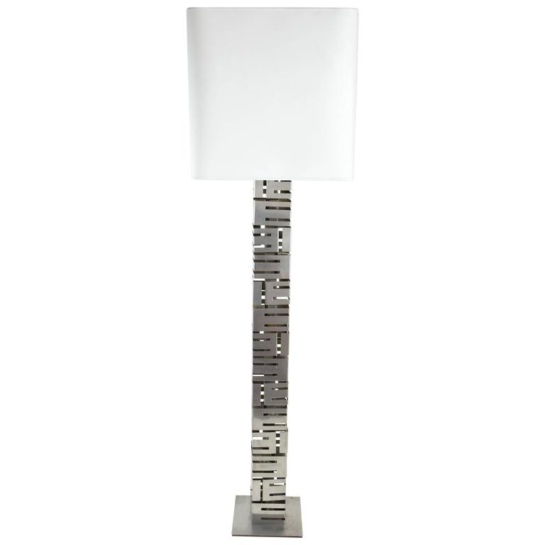 20th Century Vintage Floor Lamp by Curtis Jere, 1970's