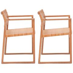 Pair of Can Dining Chairs by Børge Mogensen