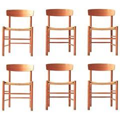Set of Six Børge Mogensen Dining Chairs