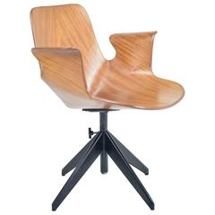 Mid-Century Office Chair by Vittorio Nobili for Fratelli Tagliabue, 1950's