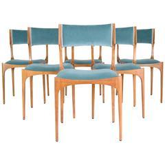 Mid-Century Giuseppe Gibelli Dining Chairs, Set of Six