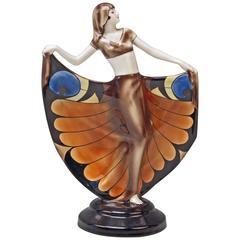 Goldscheider Vienna Rarest Oriental Lady Butterfly Dancer Veil Lorenzl