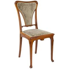 French Art Nouveau Chair by Gauthier