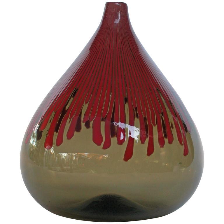 """Venini Murano """"Cannetti"""" Glass Vase by Ludovico Diaz de Santillana, 1960"""