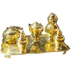 Continental Gilded Silver Tea Service