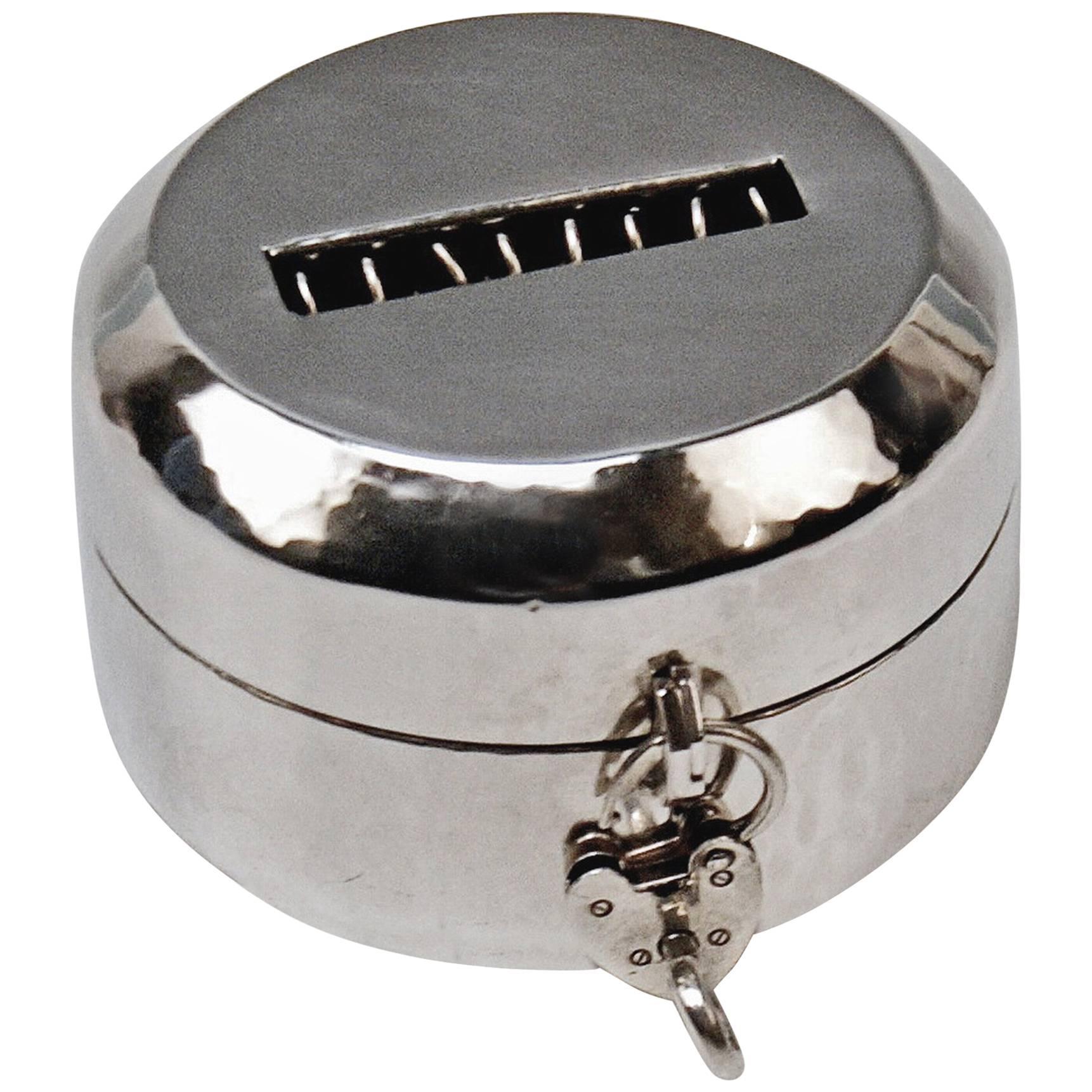 Money Box Piggy Bank Silver 830 Art Deco Jacob Grimminger Germany made 1930