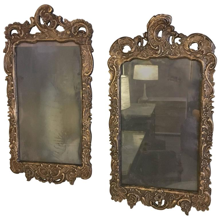 19th Century Italian Carved Mirror Frames