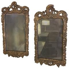 Pair Of 19th Century Italian Carved Mirror Frames