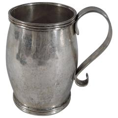 Large Antique South American Silver Mug with Beautiful Patina
