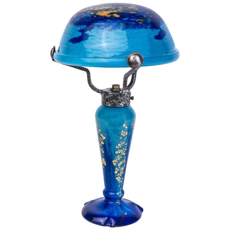 Stunning 1920s Art Deco Table Lamp by Daum Nancy