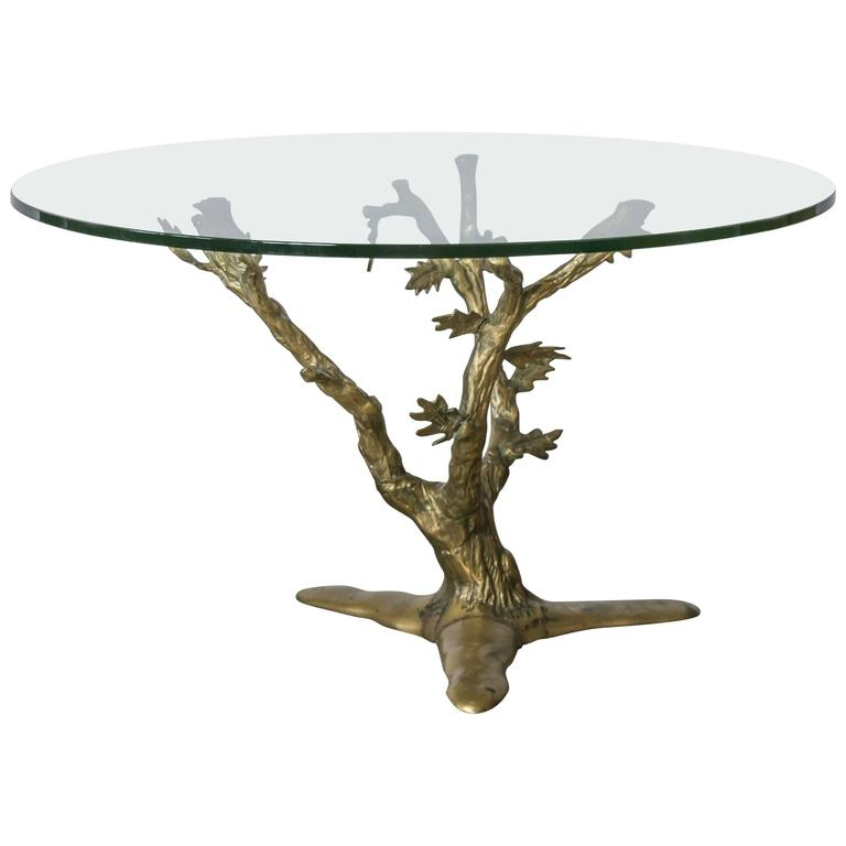 Beautifully Handcrafted Willy Daro Brass Tree Table For