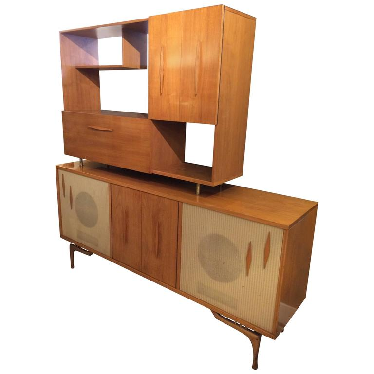 Sensational Mid-Century Modern Stereo Cabinet and Dry Bar at 1stdibs