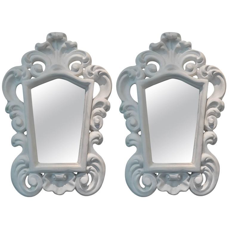 Pair of Italian Plaster Mirrors