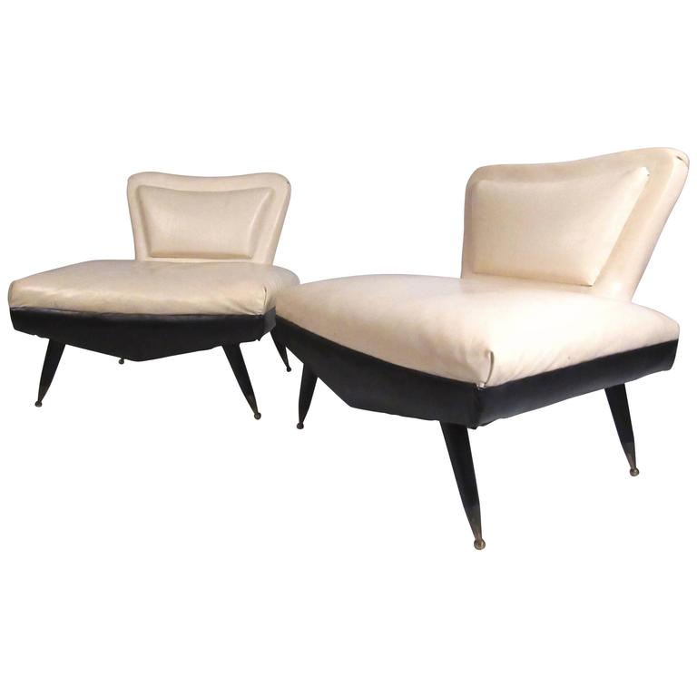 Pair of Art Deco Slipper Chairs