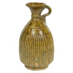 Moroccan Berber Green Glazed Terra Cotta Jar