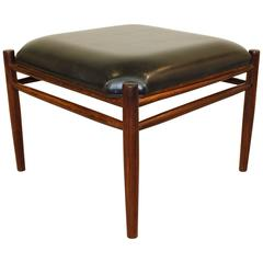 Mid-Century Modern Danish Rosewood Footrest with Reversible Top
