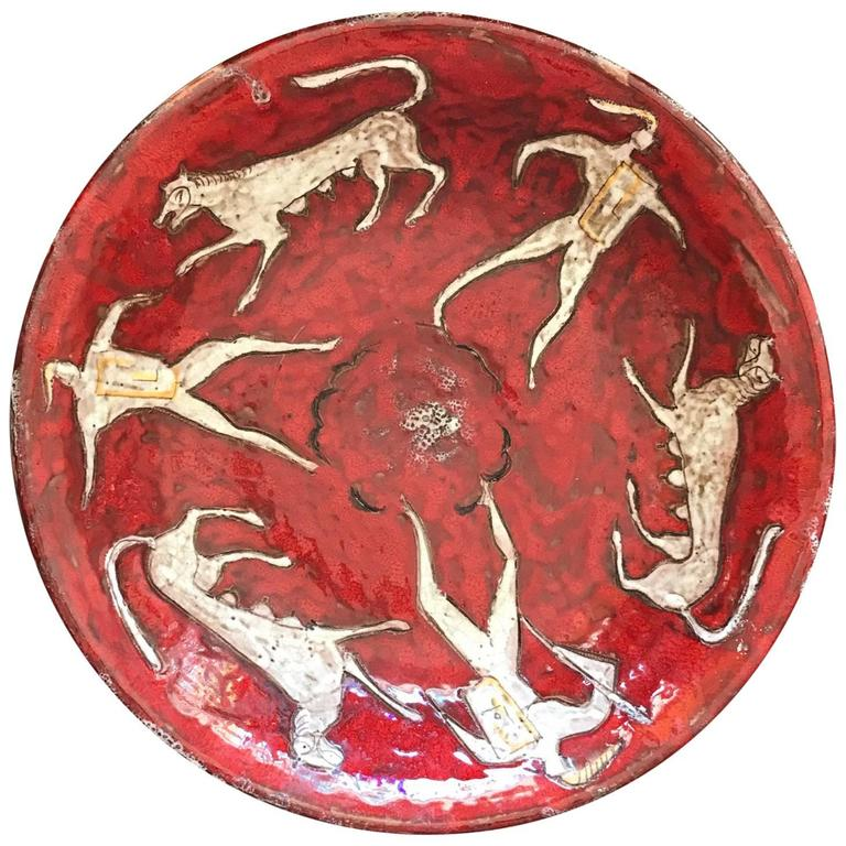 Eugenio Pattarino Ceramic Charger For Sale