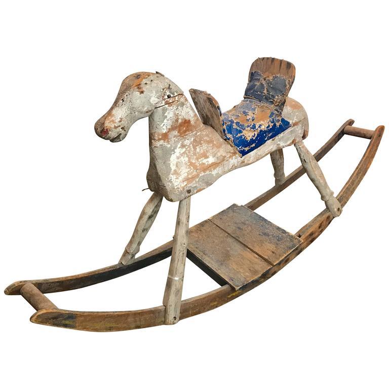 19th Century American Primitive Rocking Horse