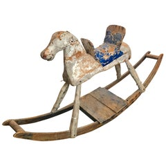 19th Century American Primitive Rocking Horse