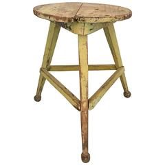 American Three Legged Painted Stool