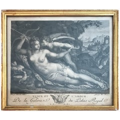 18th Century Engraving of Venus Et L'amour
